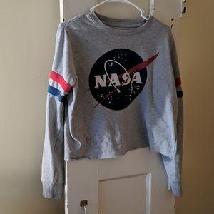Nasa crop top sweatshirt
